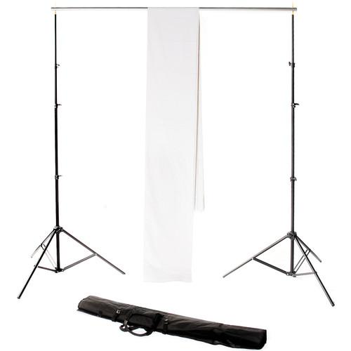 Backdrop Alley Studio Kit with Stand and 10 x 24' STDKT-24W