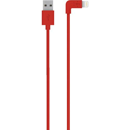Belkin MIXIT 90-Degree Lightning to USB Cable F8J147BT04-RED