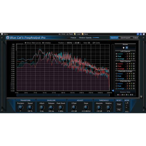 Blue Cat Audio FreqAnalyst Pro Spectral Analysis Tool 11-31234