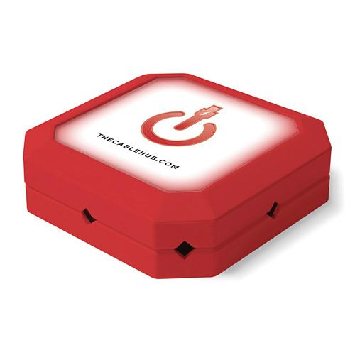 CableHub  Square CableHub (Red) CHSQ-005
