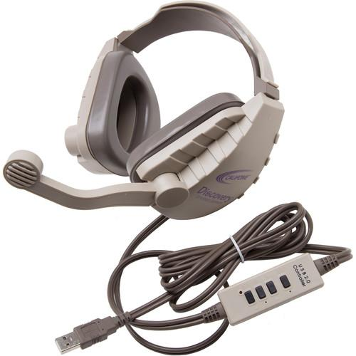 Califone DS-8V-USB Discovery Stereo Binaural Headset DS8V-USB