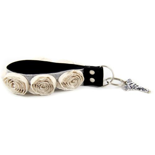 Capturing Couture Organza Key Chain (Cream) KEY15-CMRS