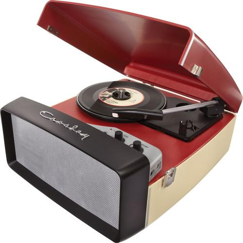 Crosley Radio Collegiate Portable Turntable with USB CR6010A-RE