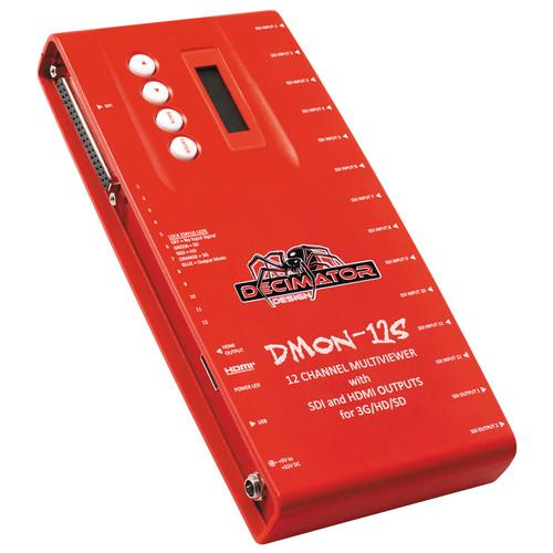 DECIMATOR DMON-12S 12-Channel Multi-Viewer with SDI & DD-12S