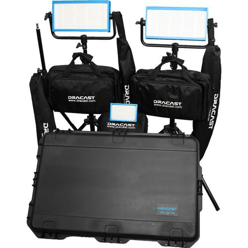 Dracast Bi-Color Wedding Kit with 1x LED160AB and 2x DR-WEDK-BG