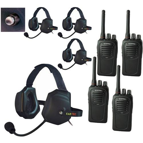 Eartec 4-User SC-1000 Two-Way Radio with XTreme Shell XTSC4000SH