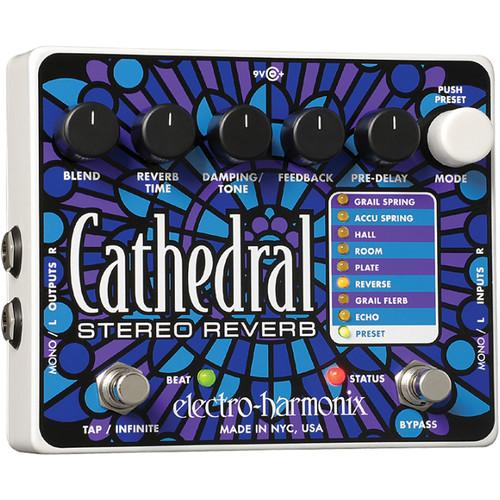 Electro-Harmonix Cathedral Stereo Reverb Pedal CATH