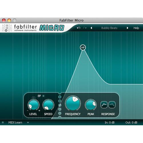 FabFilter  Micro Filter Software Plug-In 11-30182