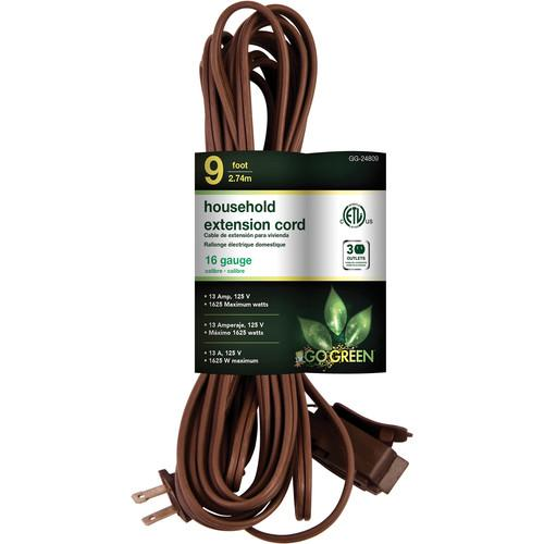 Go Green Household Extension Cord (9', Brown) GG-24809