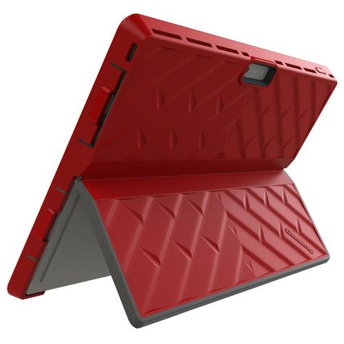 Gumdrop Cases Glass Tech Case for Microsoft GLT-MSP3-RED_BLK