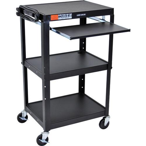 H. Wilson W42AKB Adjustable Height Steel A/V Cart W42AKB