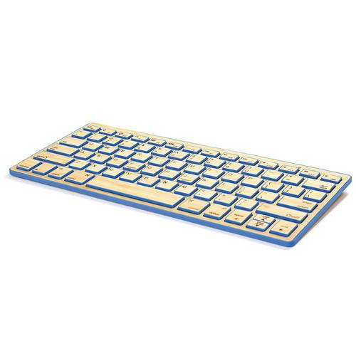 Impecca Bamboo Bluetooth Compact Wireless Keyboard KBB78BTB