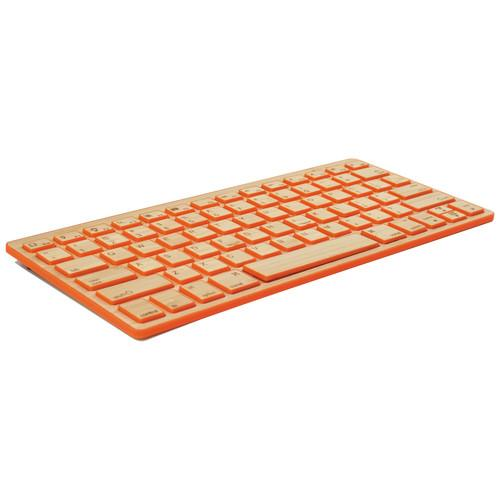 Impecca Bamboo Bluetooth Compact Wireless Keyboard KBB78BTO