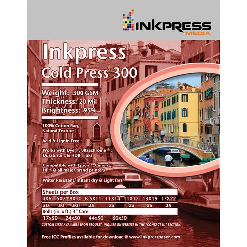 Inkpress Media Cold Press 300 Archival Inkjet Paper ICP111725