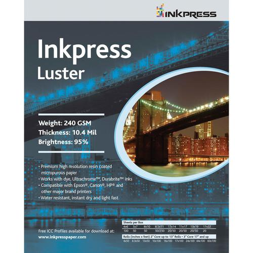 Inkpress Media RC Luster Paper for Inkjet PCL81250