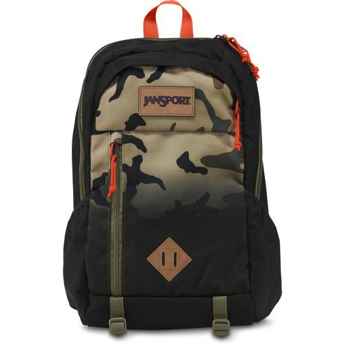 JanSport Fox Hole 25L Backpack (Black Camo Fade) T52M0BL