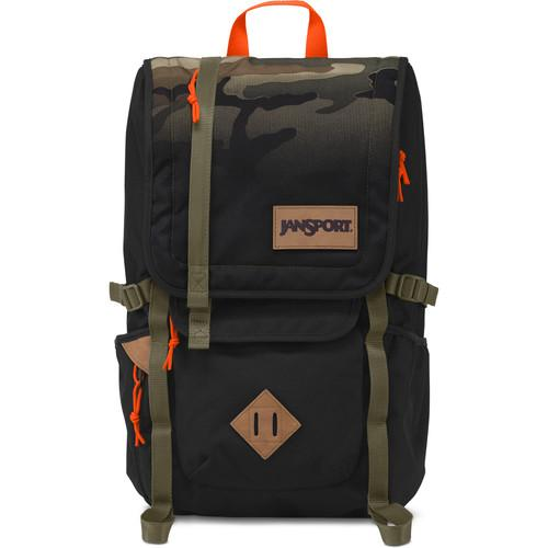 JanSport Hatchet 28L Backpack (Black Camo Fade) T52S0BL
