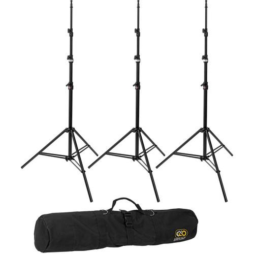Kino Flo Medium Duty 3-Stand Kit with Carry Bag (10') KIT-S3