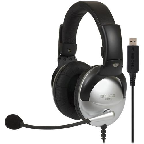 Koss SB45 USB Communication Headsets with Noise-Reduction 178203