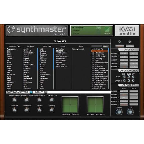 KV331 Audio SynthMaster Player - Preset Software 11-33122