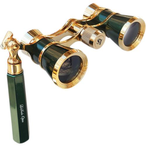 LaScala Optics 3x25 Opera Glasses (Green/Gold) LSI11