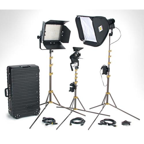 Lowel Lowel Prime Location Plus 2 Pro LED 3-Light Kit PLP-912VTU