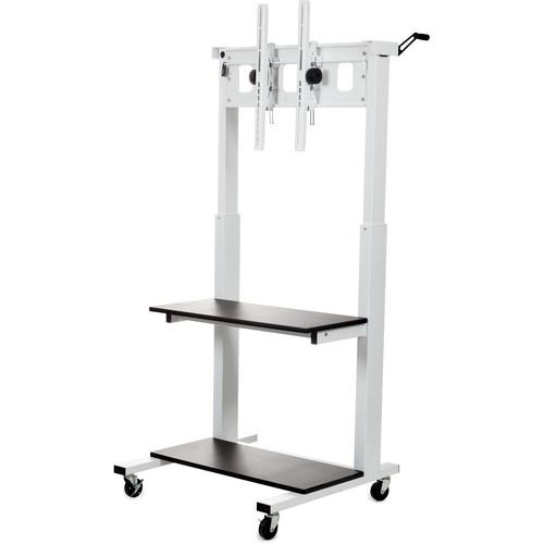 Luxor CLCD Crank Adjustable Flat Panel TV Cart CLCD