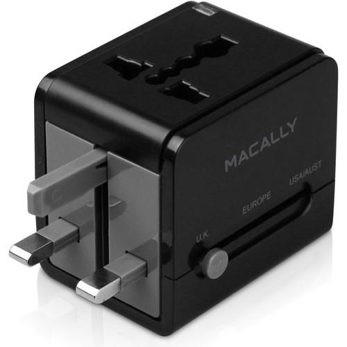 Macally Universal Power Plug Adapter with USB Charger LPPTCIIMP