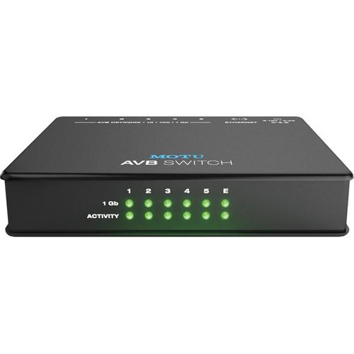MOTU AVB Switch - Five-Port AVB Ethernet Switch 9305