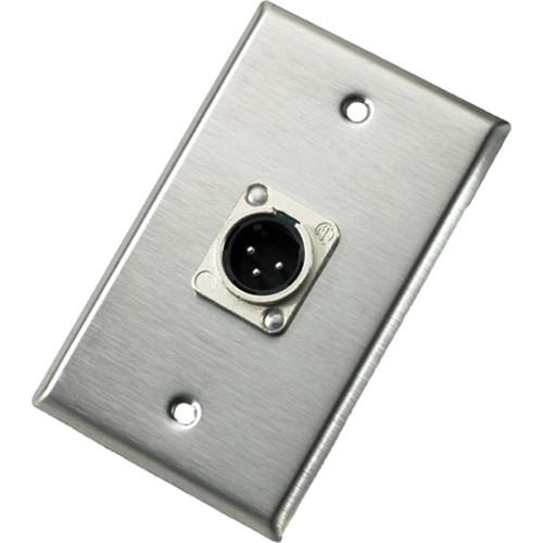 Neutrik 103M Single Gang Wallplate with Male Receptacle 103M
