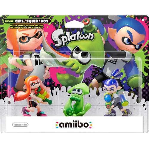 Nintendo Amibo Inkling Boy, Girl, & Squid 3-Pack NVLEAE3A