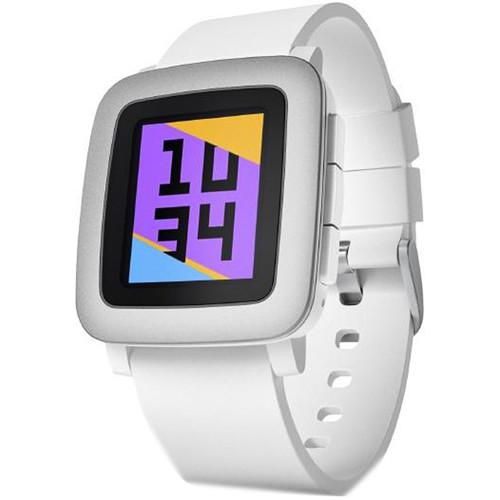 Pebble Pebble Time Smartwatch (White with Silver Bezel)