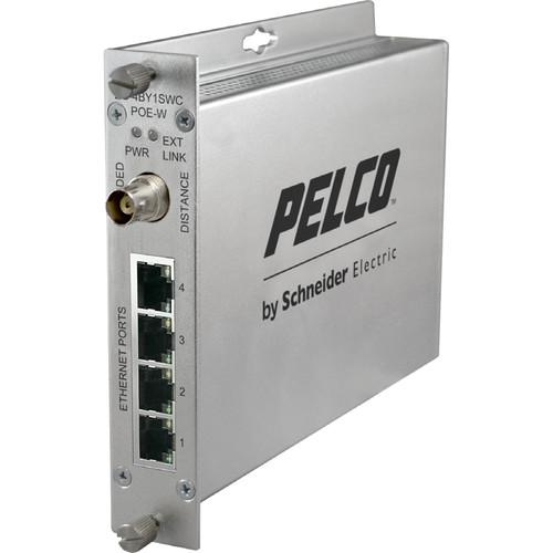 Pelco EthernetConnect EC-4BY1SWC/U Series 4-Port EC4BY1SWCPOEW