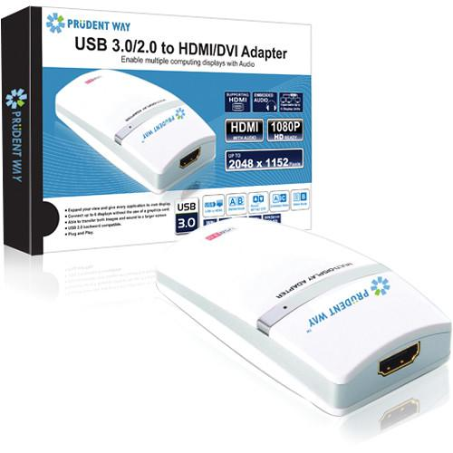 Prudent Way USB 3.0 to HDMI/DVI Adapter PWI-U3-HDA