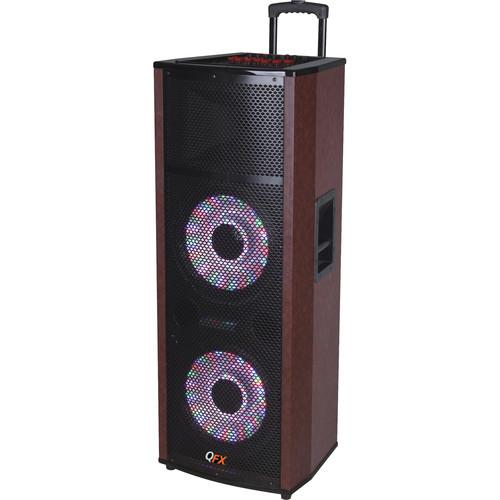 QFX PA Cabinet Speaker with Built-In Amplifier SBX 6612200BT