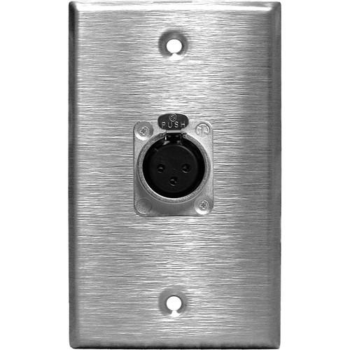 RapcoHorizon SP-1DFN XLR Single Gang Wall Plate with 1 SP-1DFN