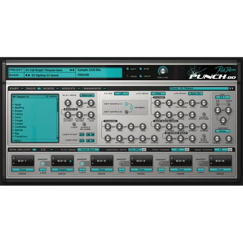 Rob Papen Punch-BD - Bass Drum Software Synthesizer RPPUBD