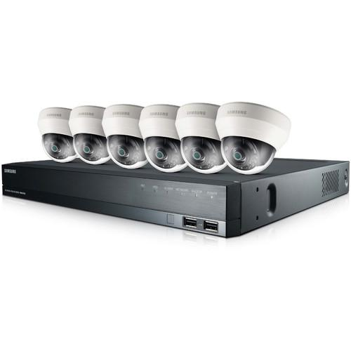Samsung 8-Channel 2TB HDD NVR with Six Indoor IP Dome SRK-4060S