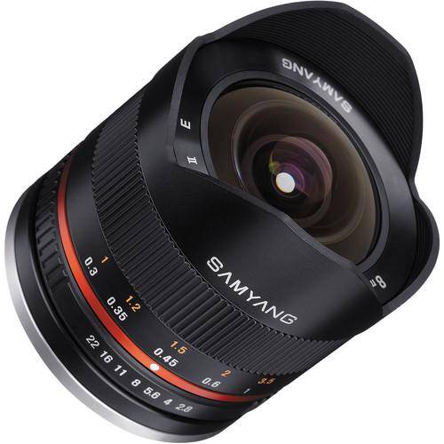 Samyang 8mm f/2.8 Fisheye II Lens for Fujifilm X SY8MBK28-FX
