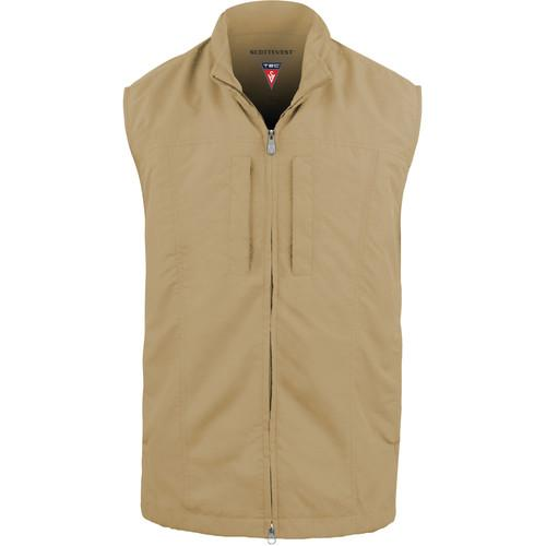 SCOTTeVEST RFID Travel Vest for Men (Large, Khaki) RVMLK