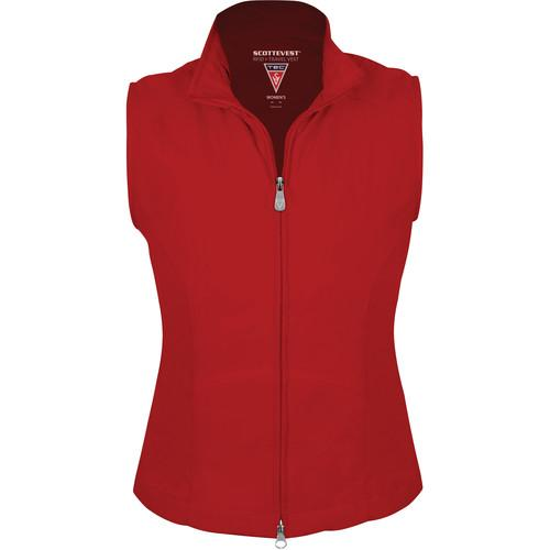 SCOTTeVEST RFID Travel Vest for Women (Small, Red) RVWSR