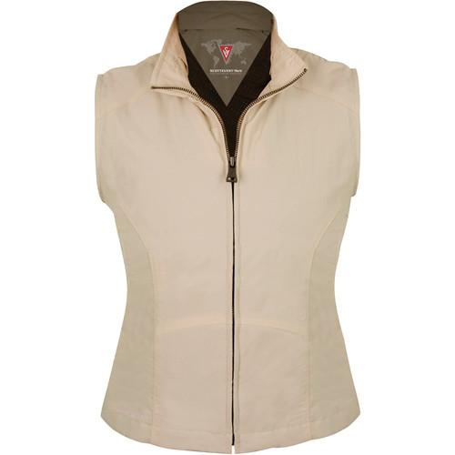 SCOTTeVEST Travel Vest for Women (Large, Khaki) TVWLK