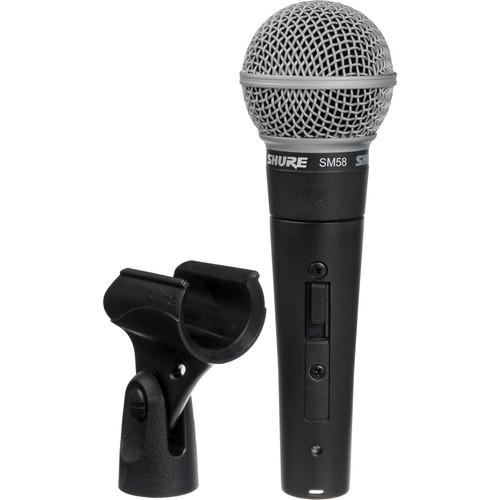 Shure SM58S Cardioid Microphone Kit - Includes Switch, Boom