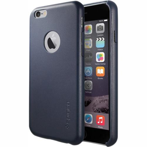 Spigen Leather Fit Case for iPhone 6 (Midnight Blue) SGP11372