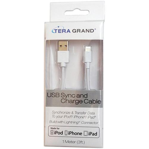 Tera Grand Apple MFi Lightning to USB Sync and APL-WI043-WH