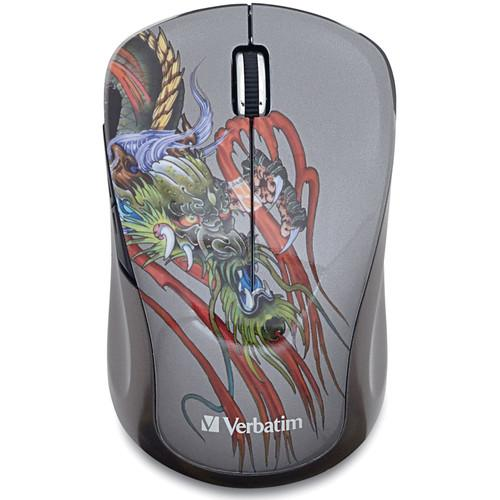 Verbatim Tattoo Series Wireless Notebook Blue LED Mouse 98612