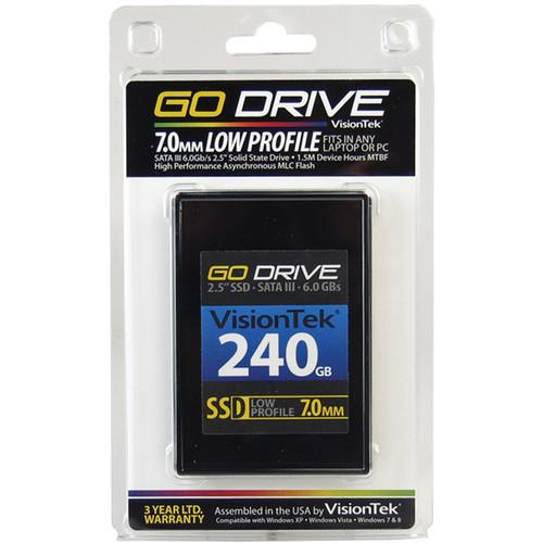 VisionTek Go Drive Low Profile 7mm SSD (240GB) 900624