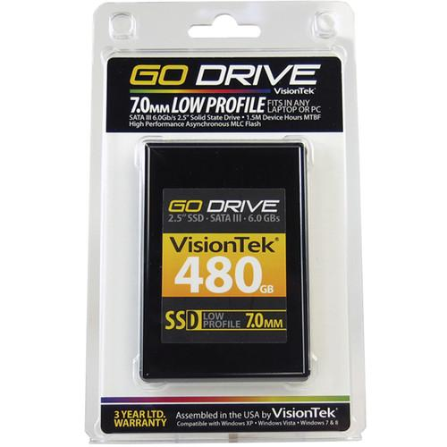 VisionTek Go Drive Low Profile 7mm SSD (480GB) 900625