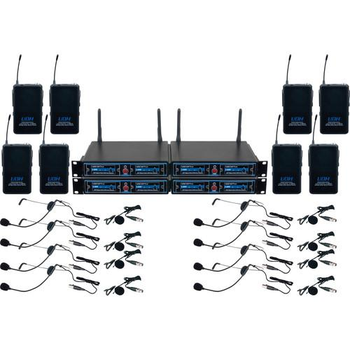 VocoPro UDH-PLAY 8 - Eight-Channel UHF/DSP Hybrid UDH-PLAY-8