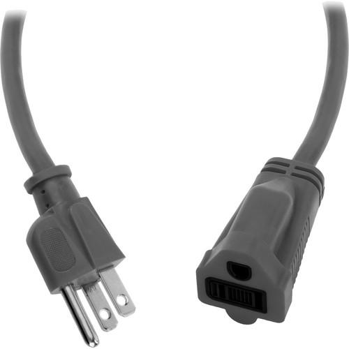 Watson 15 ft AC Power Extension Cord 16 AWG (Gray) ACE16-15G